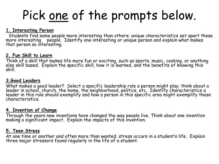 Pick one of the prompts below