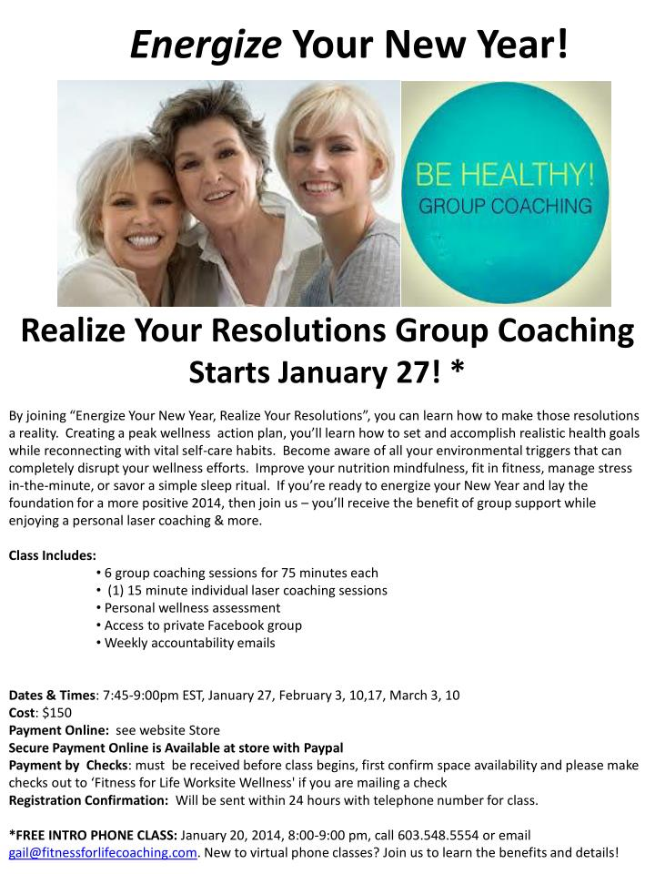 realize your resolutions group coaching starts january 27 n.