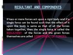 resultant and components1