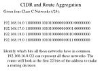cidr and route aggregation1