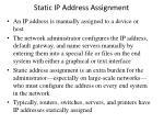 static ip address assignment