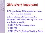 gpa is very important