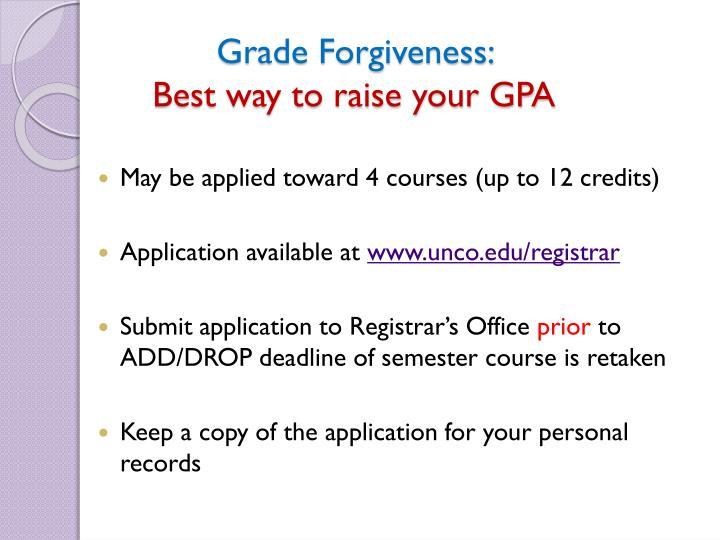 Grade Forgiveness: