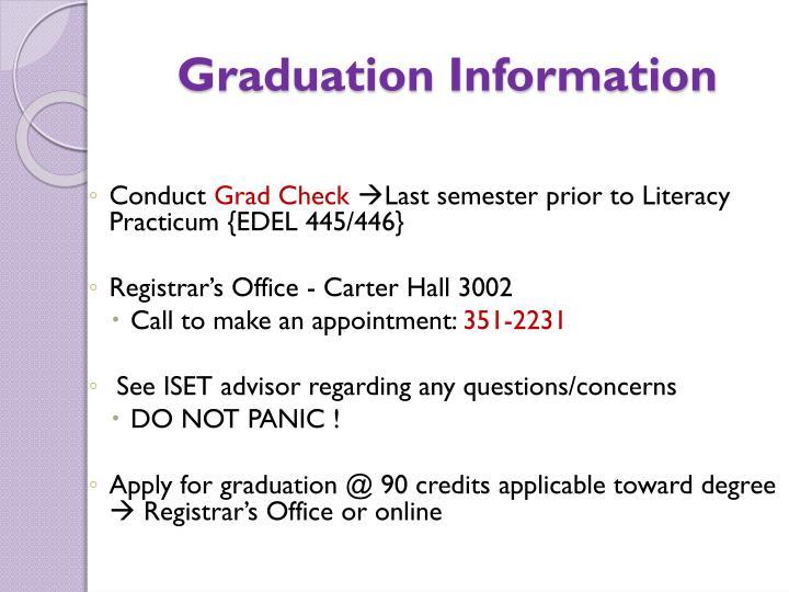 Graduation Information