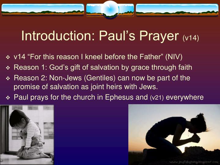 Introduction paul s prayer v14