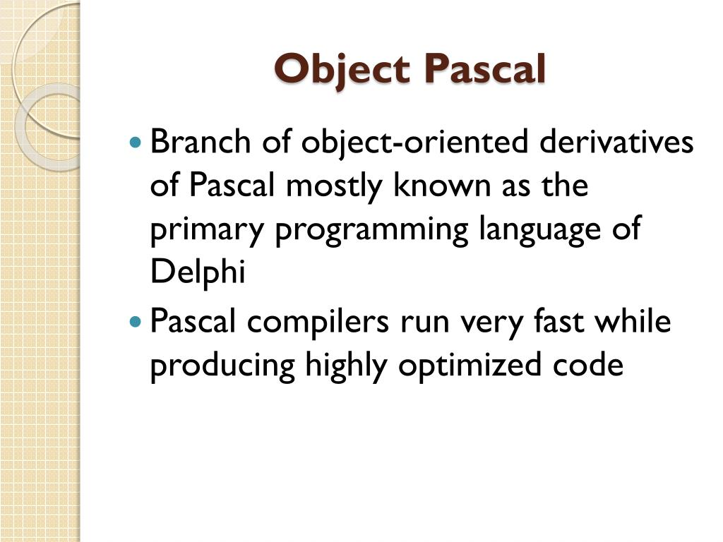PPT - PASCAL PowerPoint Presentation - ID:2563347