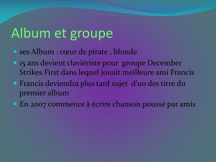 Album et groupe