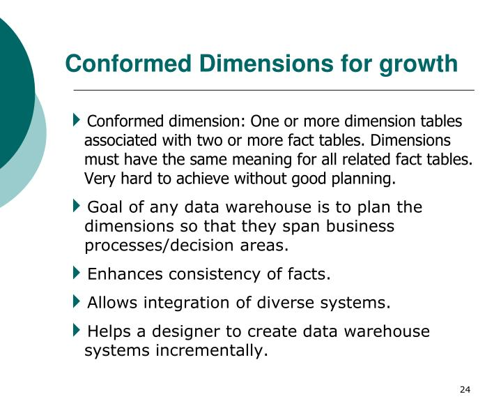 Conformed Dimensions for growth