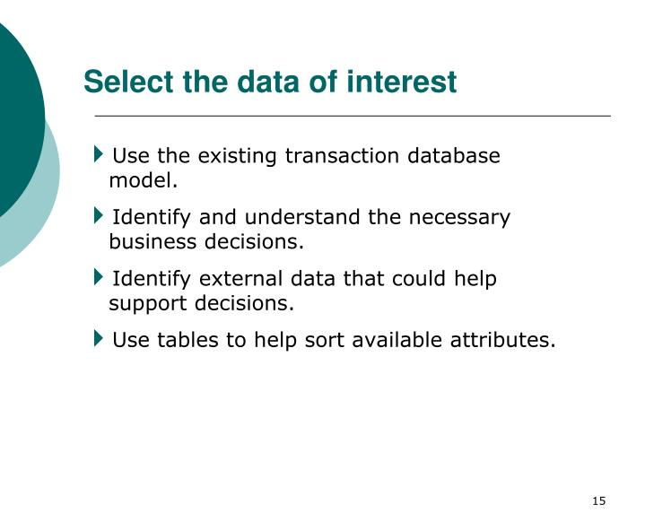 Select the data of interest