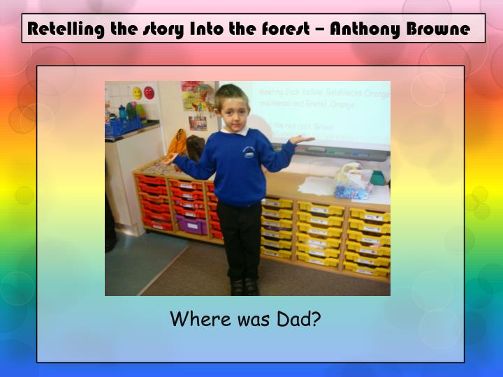Ppt Retelling The Story Into The Forest Anthony Browne border=