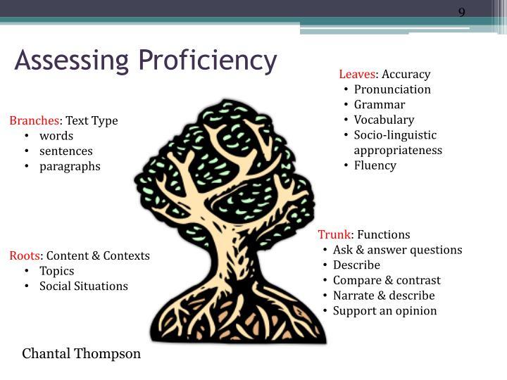 Assessing Proficiency