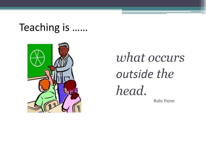 Teaching is ……