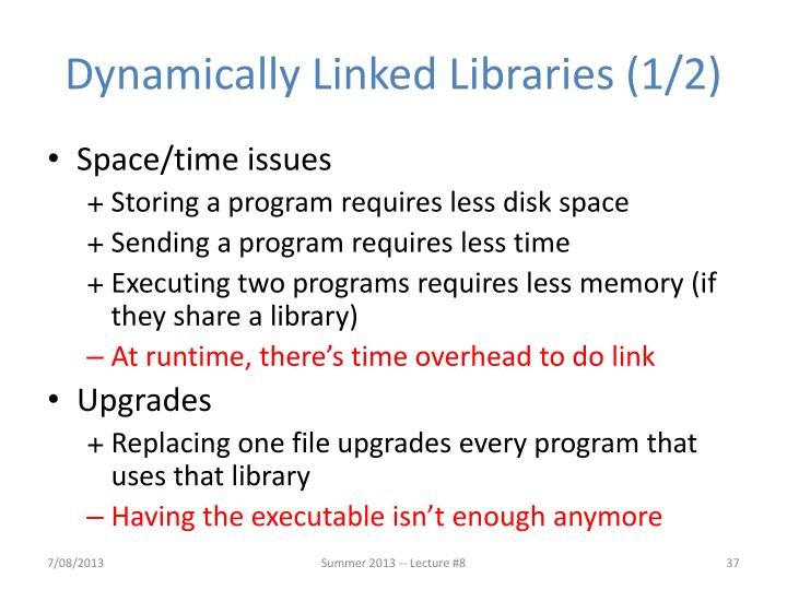 Dynamically Linked Libraries (1/2)