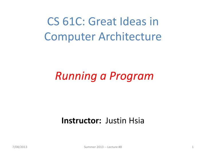 Instructor justin hsia