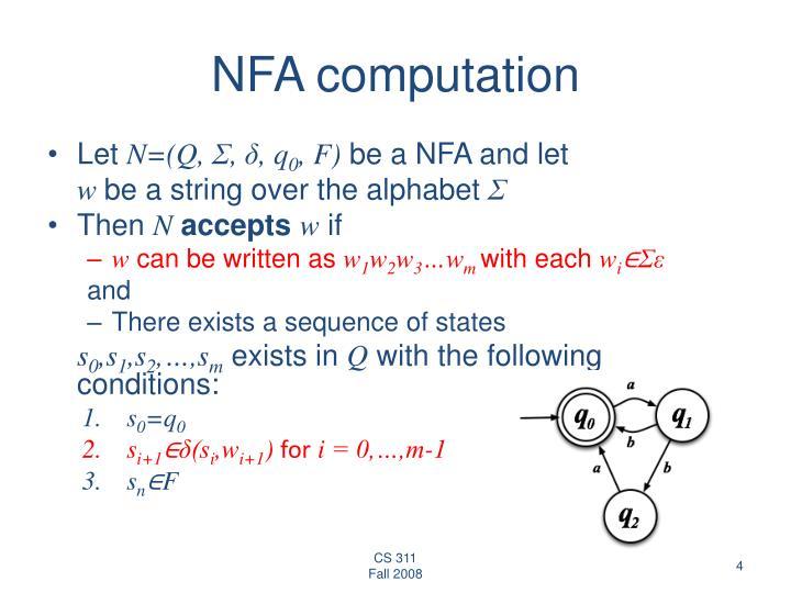 NFA computation