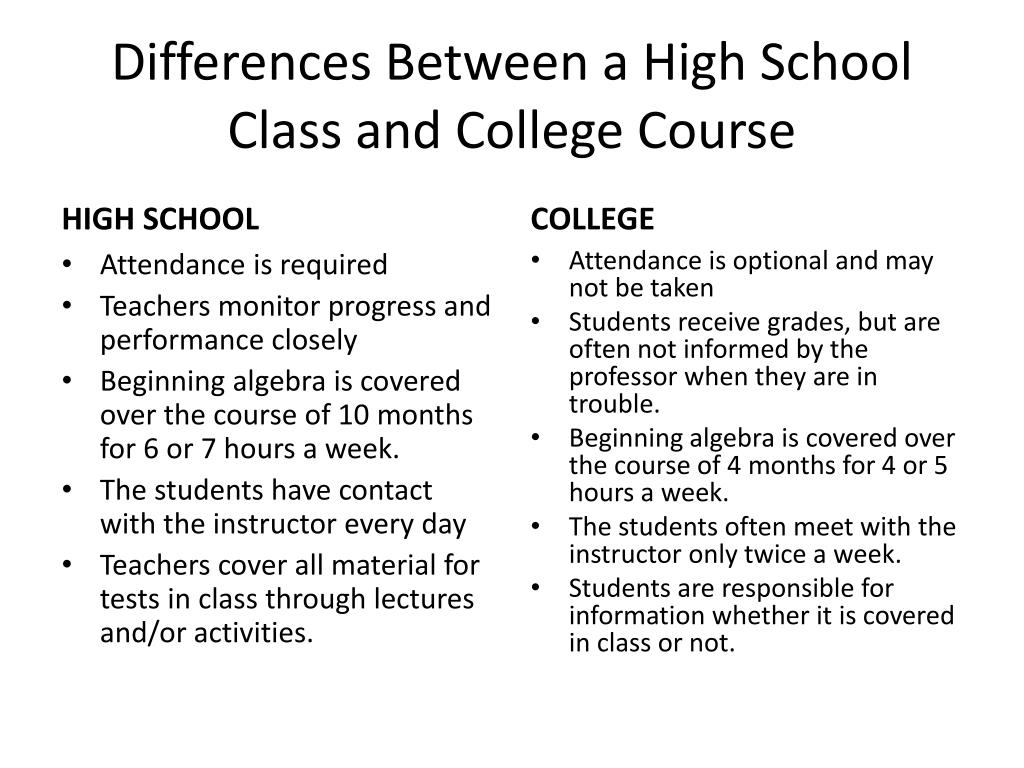 what is the difference between college and school