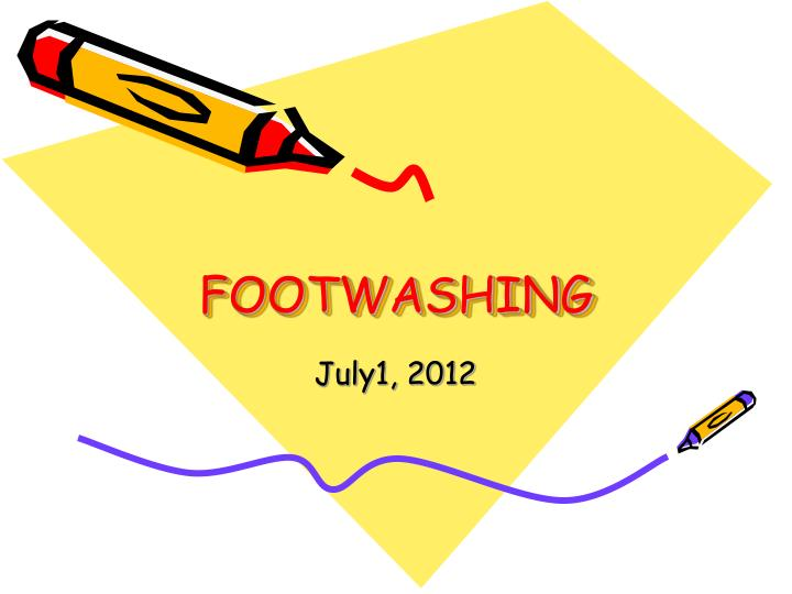 footwashing n.