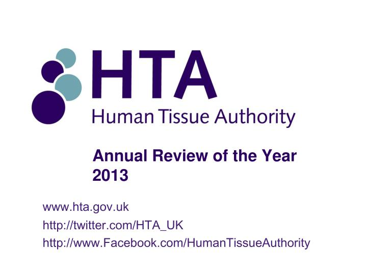 Annual Review of the Year 2013