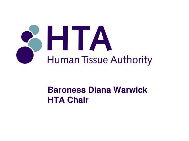 Baroness diana warwick hta chair