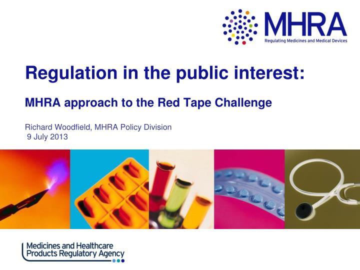 Regulation in the public interest: