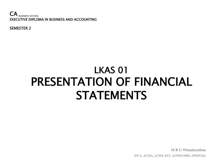 lkas 01 presentation of financial statements n.