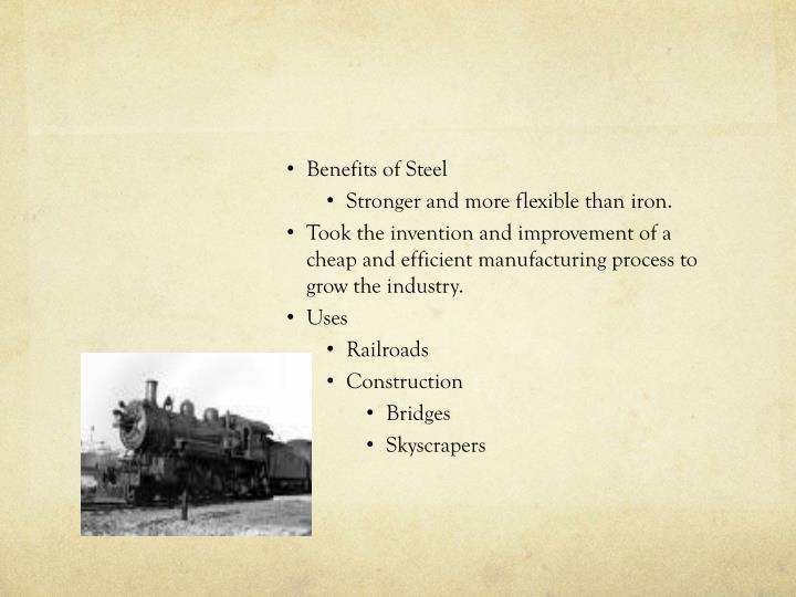 Benefits of Steel