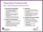 danielson framework http danielsongroup org framework
