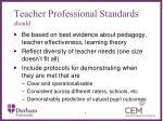 teacher professional standards should
