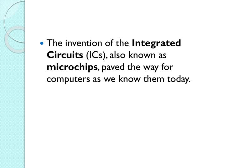 The invention of the