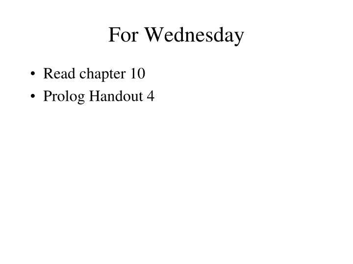 for wednesday n.