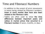 time and fibonacci numbers