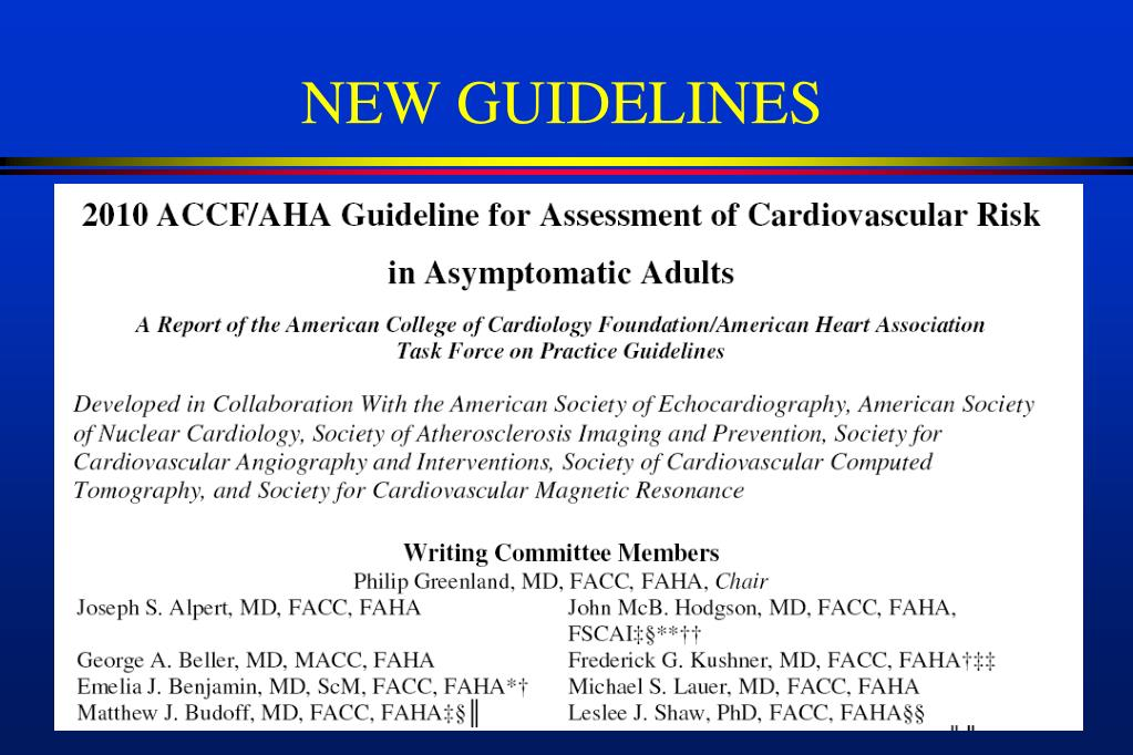 PPT - Coronary Calcium Scoring for Risk Stratification and