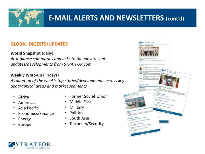 E-MAIL ALERTS AND NEWSLETTERS