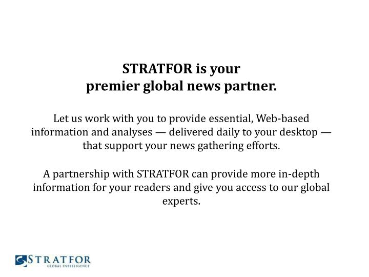 STRATFOR is your