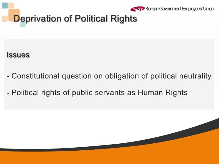 Deprivation of Political Rights