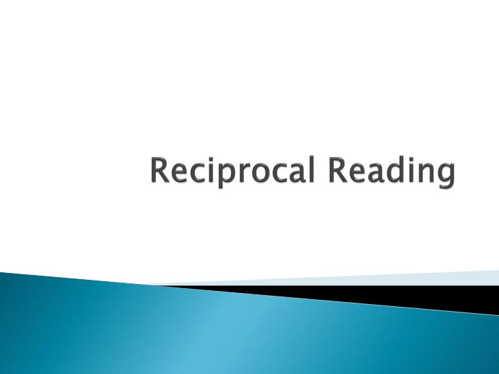 reciprocal reading n.