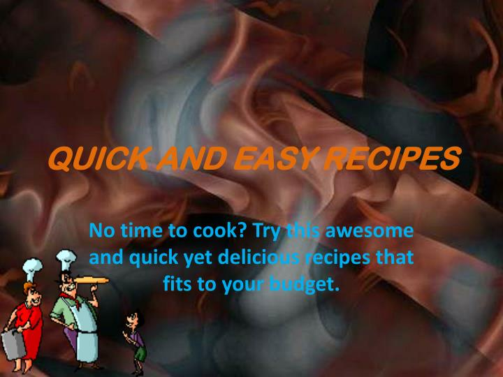 quick and easy recipes n.