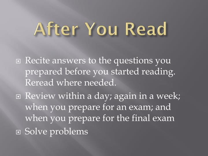 After You Read