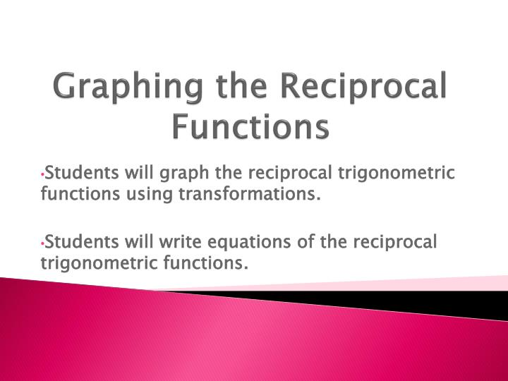 graphing the reciprocal functions n.