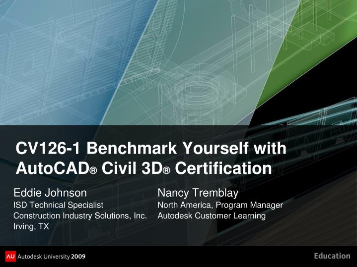 cv126 1 benchmark yourself with autocad civil 3d certification n.