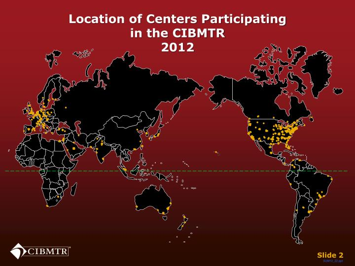 Location of centers participating in the cibmtr 2012