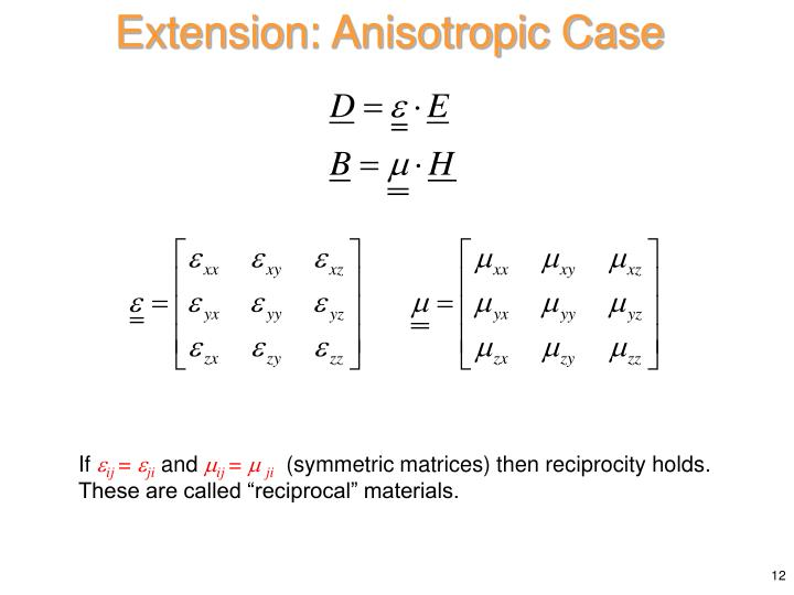 Extension: Anisotropic Case