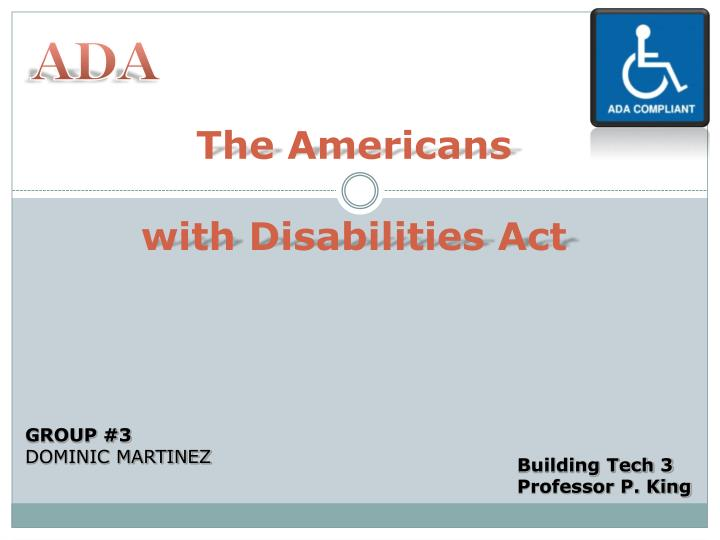 an analysis of state colleges complying with the requirements of the americans with disabilities act Barbara a lee,reasonable accommodation under the americans with the americans with disabilities act analysis and satisfy the requirements of their state.