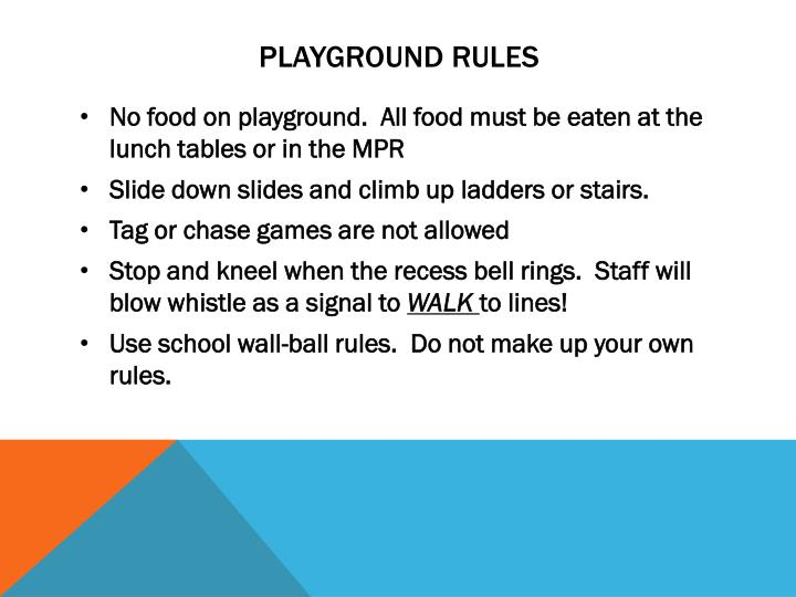 PPT - Avaxat Elementary School School and Playground Rules ...