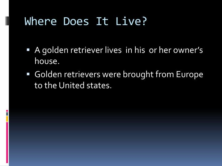 Where Does It Live?