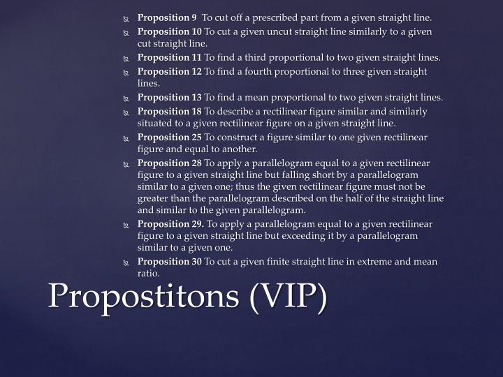 Propostitons vip