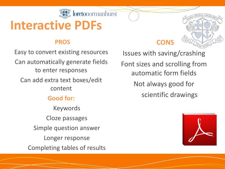 Interactive PDFs