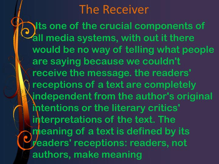 a study on reader response theory Reader-response criticism source: a dictionary of the bible contains accessibly written entries for topics covering the religious, historical, and social aspects of the bible.