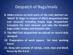 despatch of bags mails2