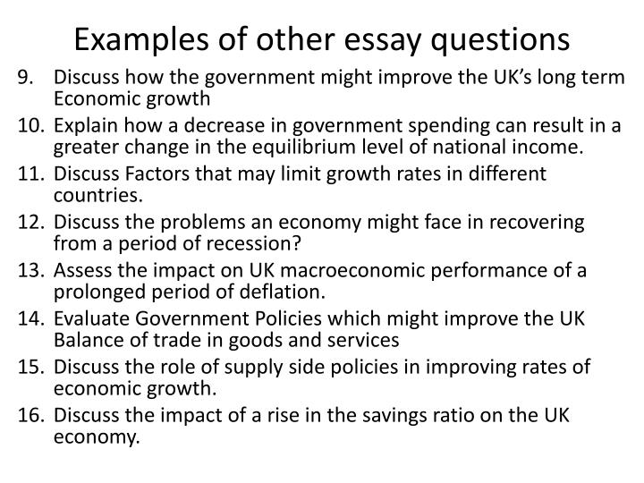 macroeconomic essay topics Macroeconomics essay topic or chinese problems there is so much macroeconomic information between china and the us.